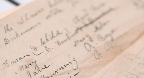 Slave document donated